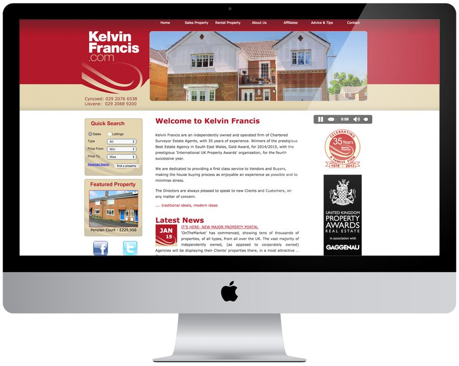 Kelvin Francis Website Design