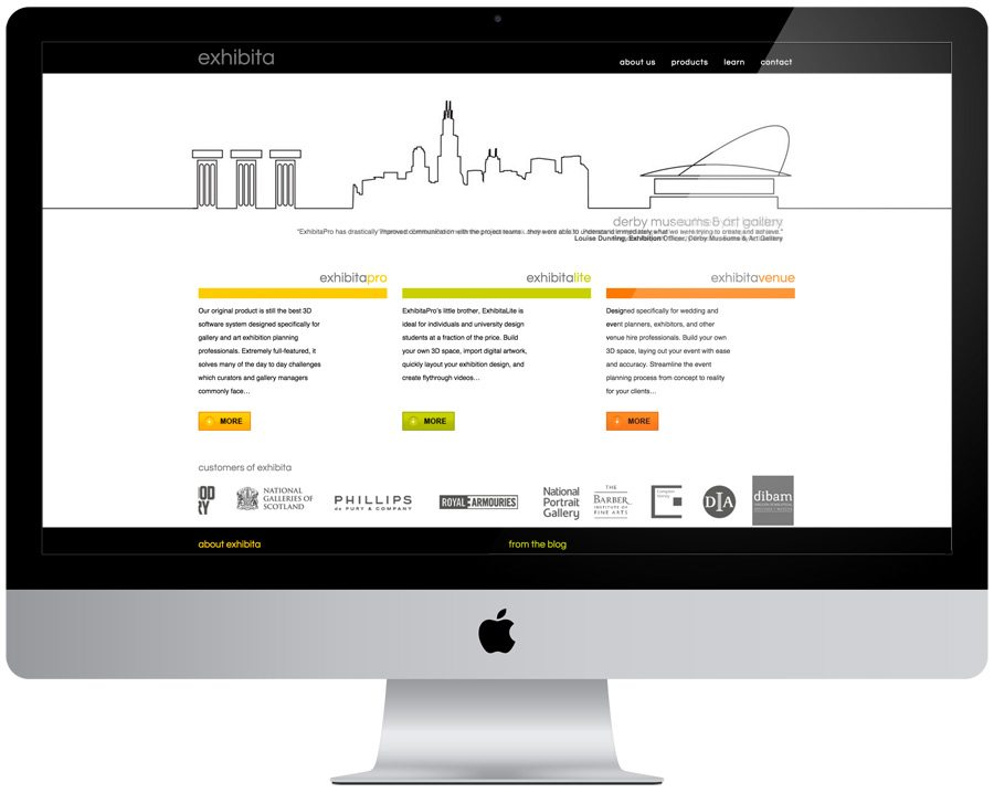 Exhibita Pro Website Design