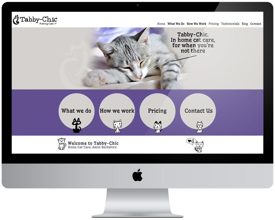 Tabby Chic Website Design
