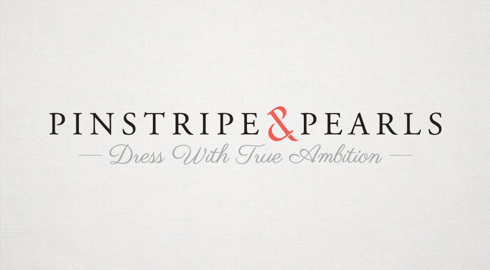 Pinstripes and Pearls Logo Design