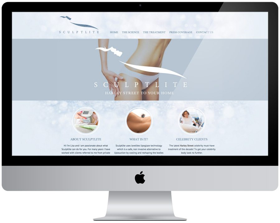 Sculptlite Website Design