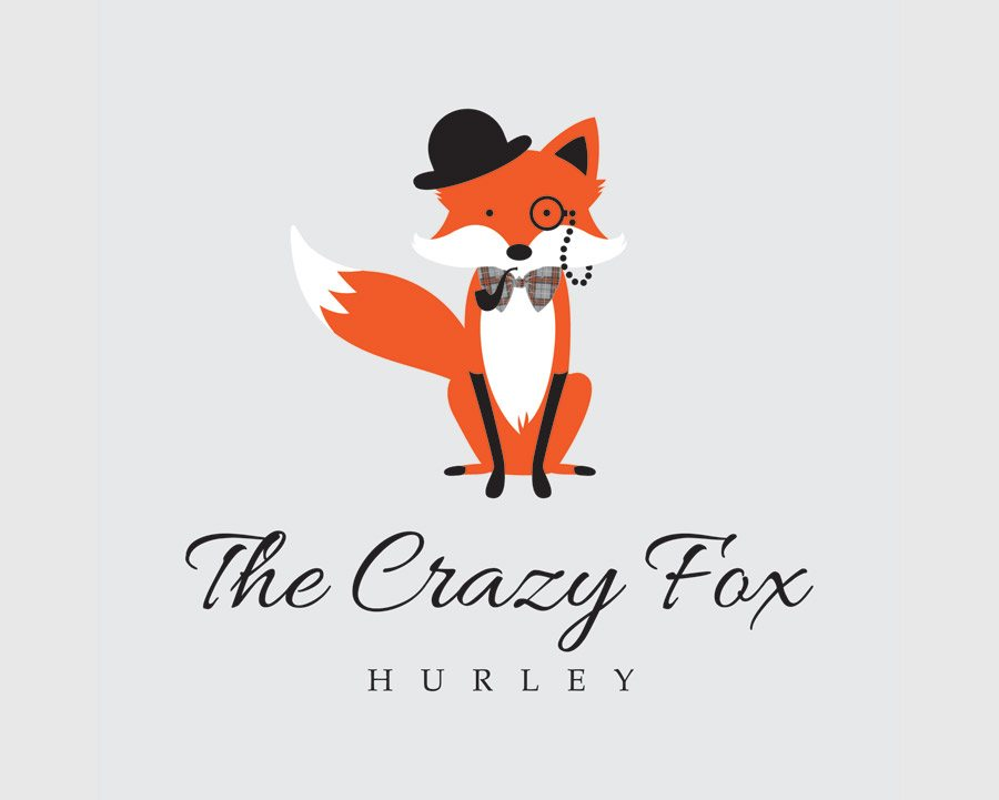 Crazy Fox Hurley Logo Design