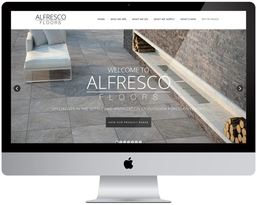 Alfresco Floors Website Design