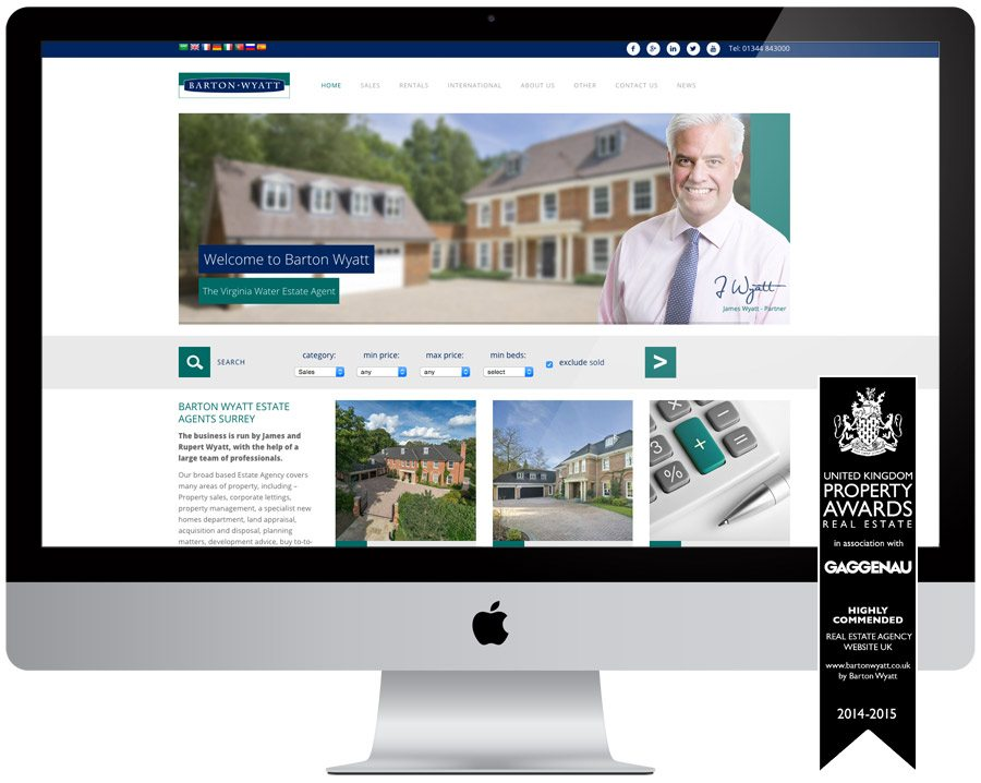 Barton Wyatt Estate Agent Web Design