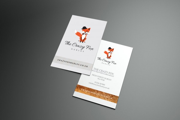 Crazy Fox Business Card Design