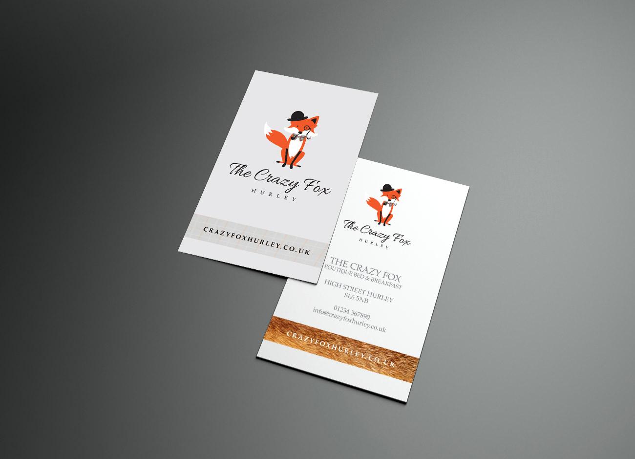Crazy Fox Business Card Design