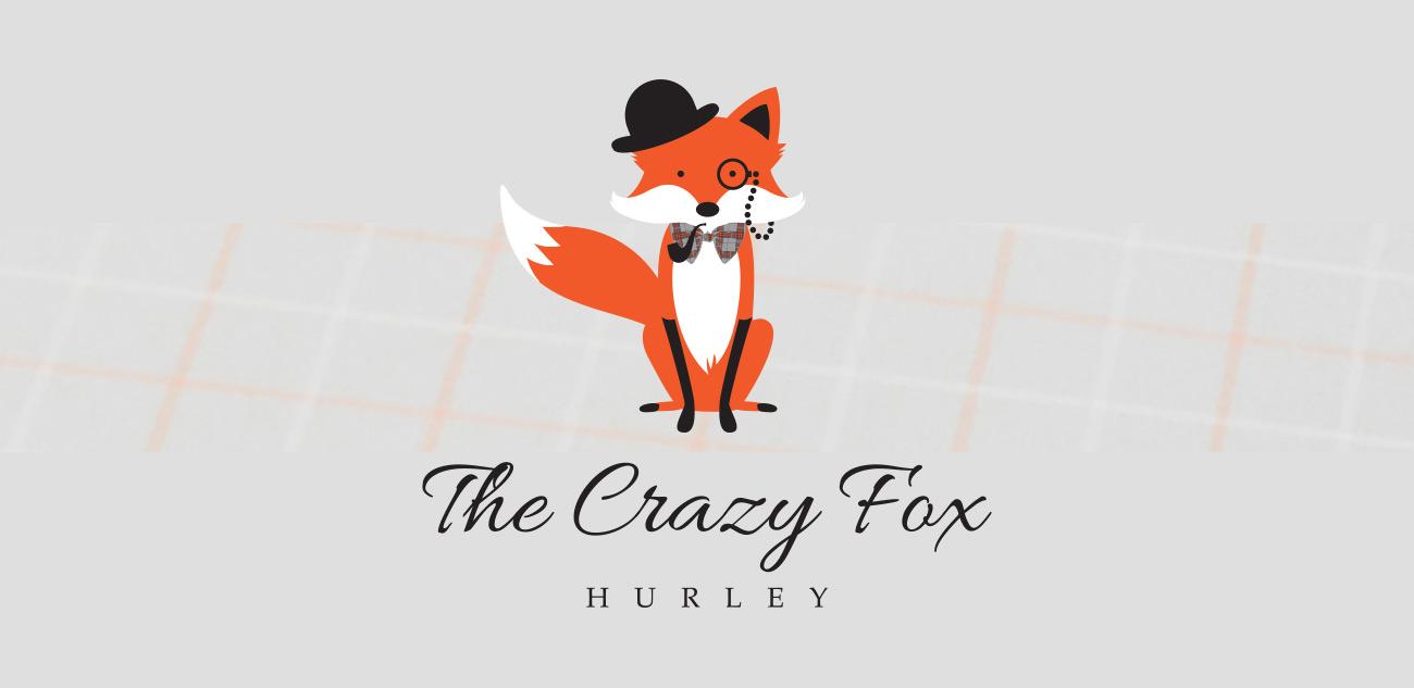 Crazy Fox Hurley Logo Design