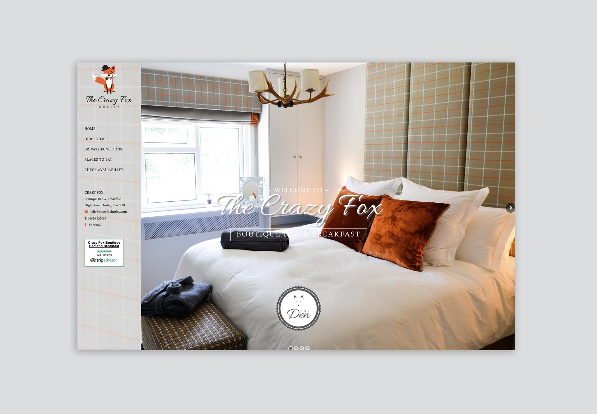 Crazy Fox Website Design