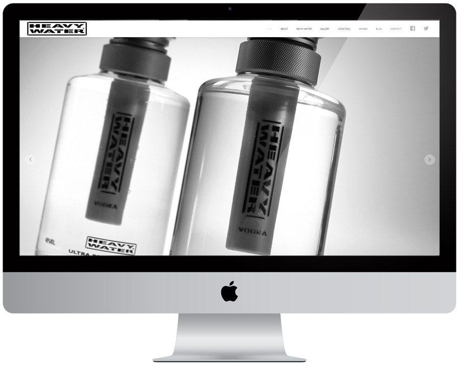 Heavy Water Vodka web design