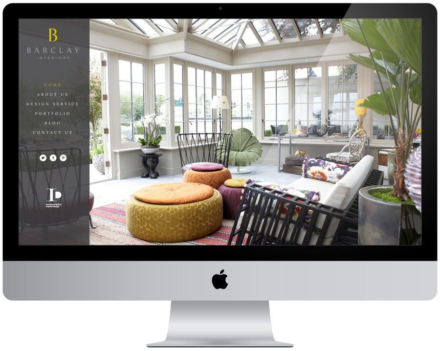 Barclay Interiors Website Design