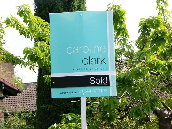 Caroline Clark : Estate Agent Board Design Berkshire