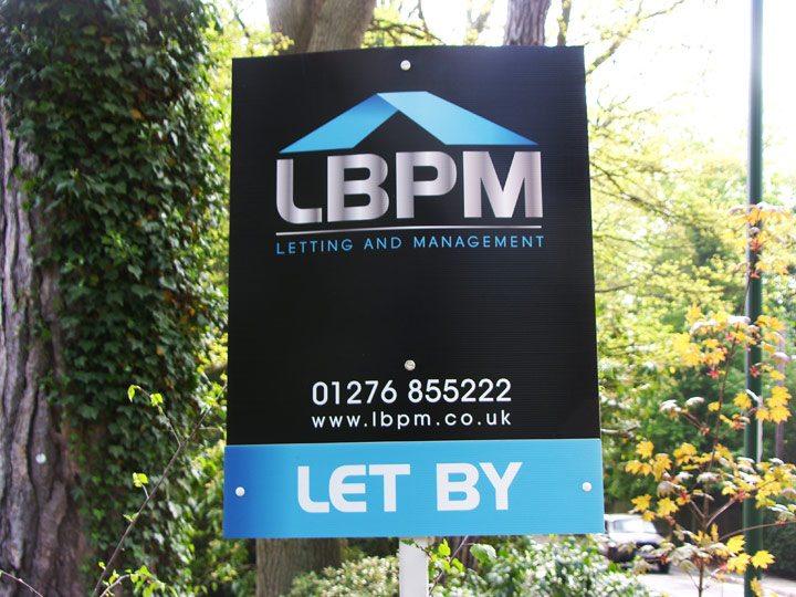 LBPM Estate Agent Board Design Chobham