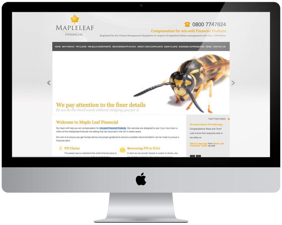 Maple Leaf Financial Web Design