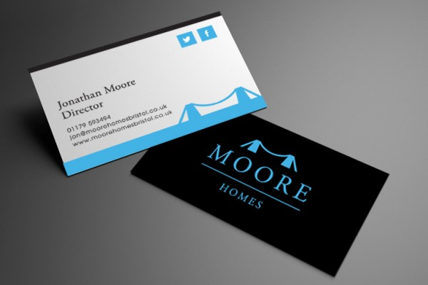 Moore Homes Business Card Design