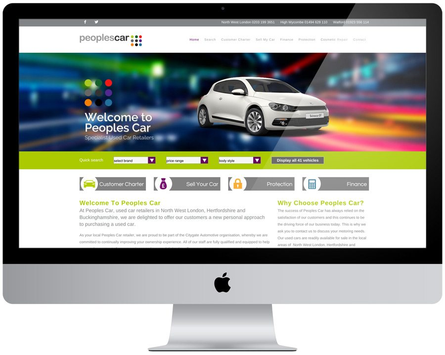 Peoples Car Website Design