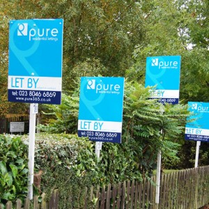 Pure : Estate Agent Board Design Southampton
