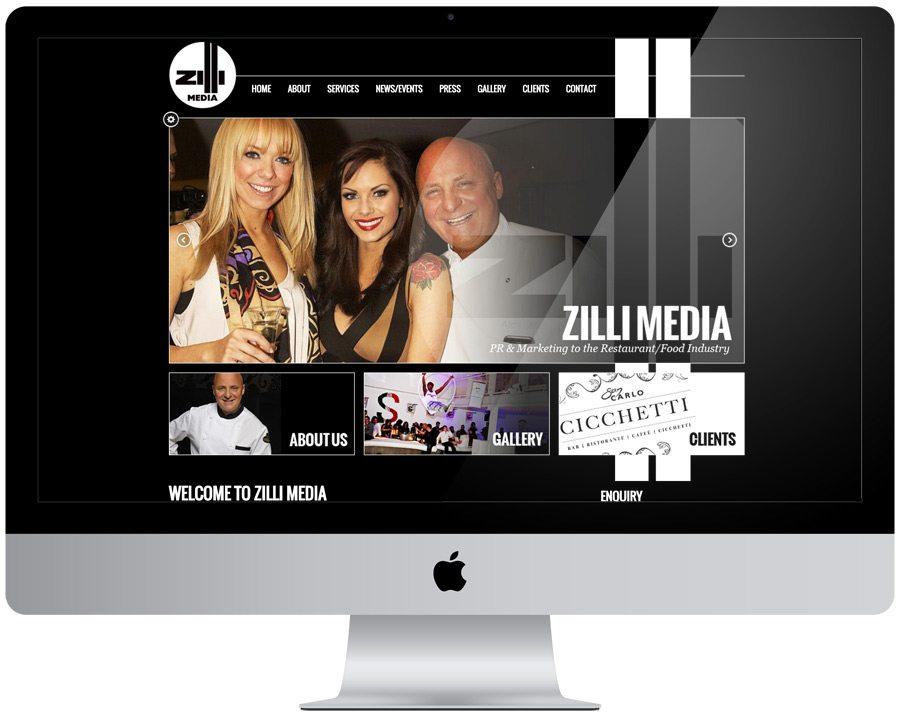 Zilli Media Website Design