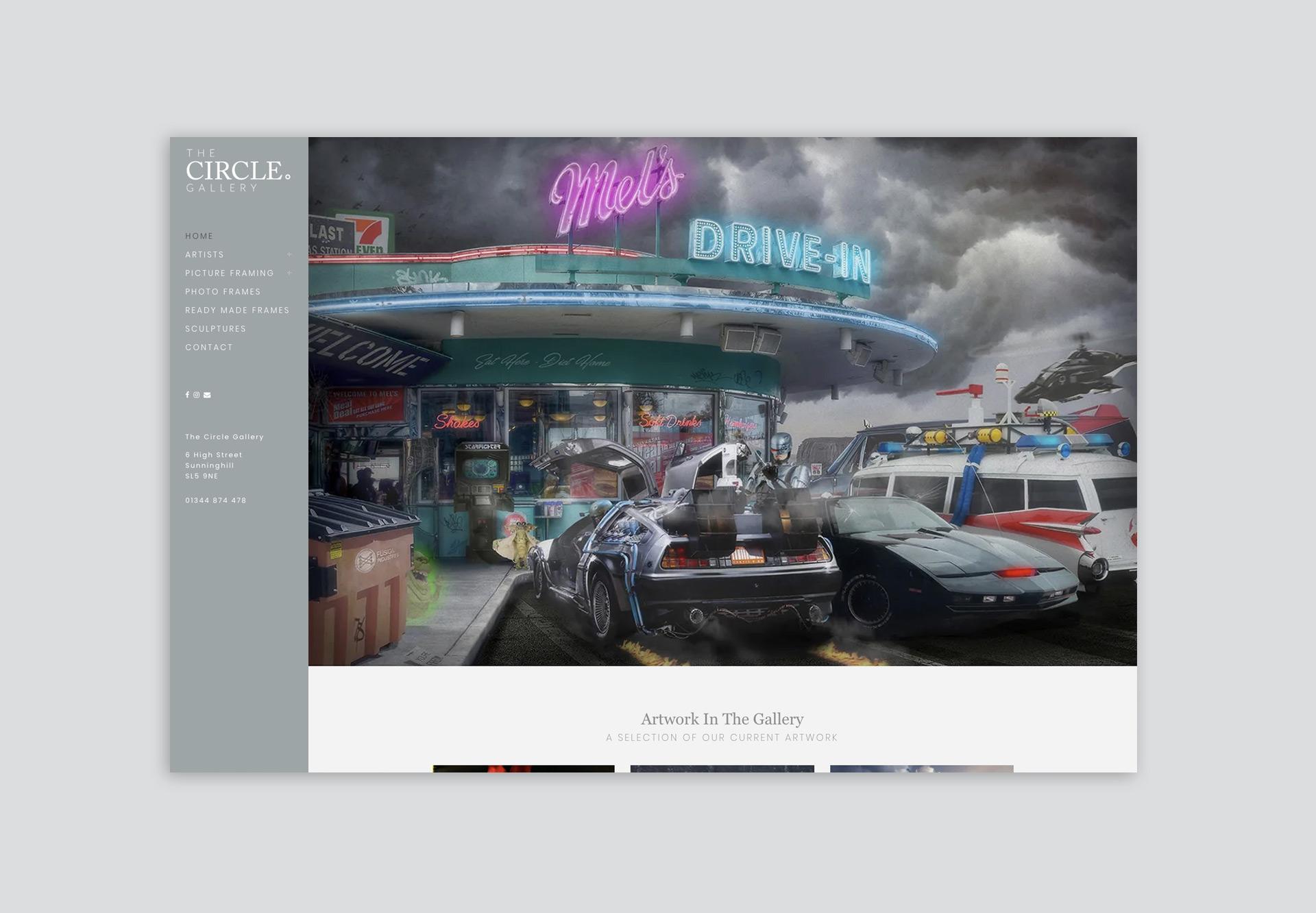 Circle Gallery Website Design