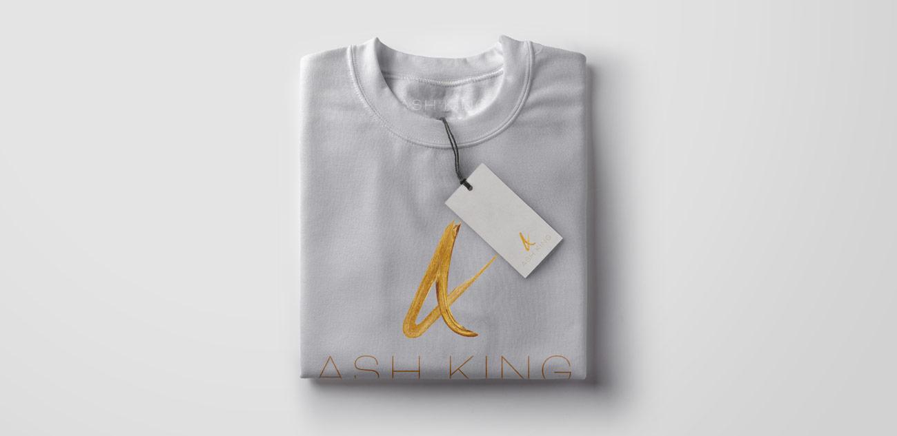Ash King Singer Logo Design
