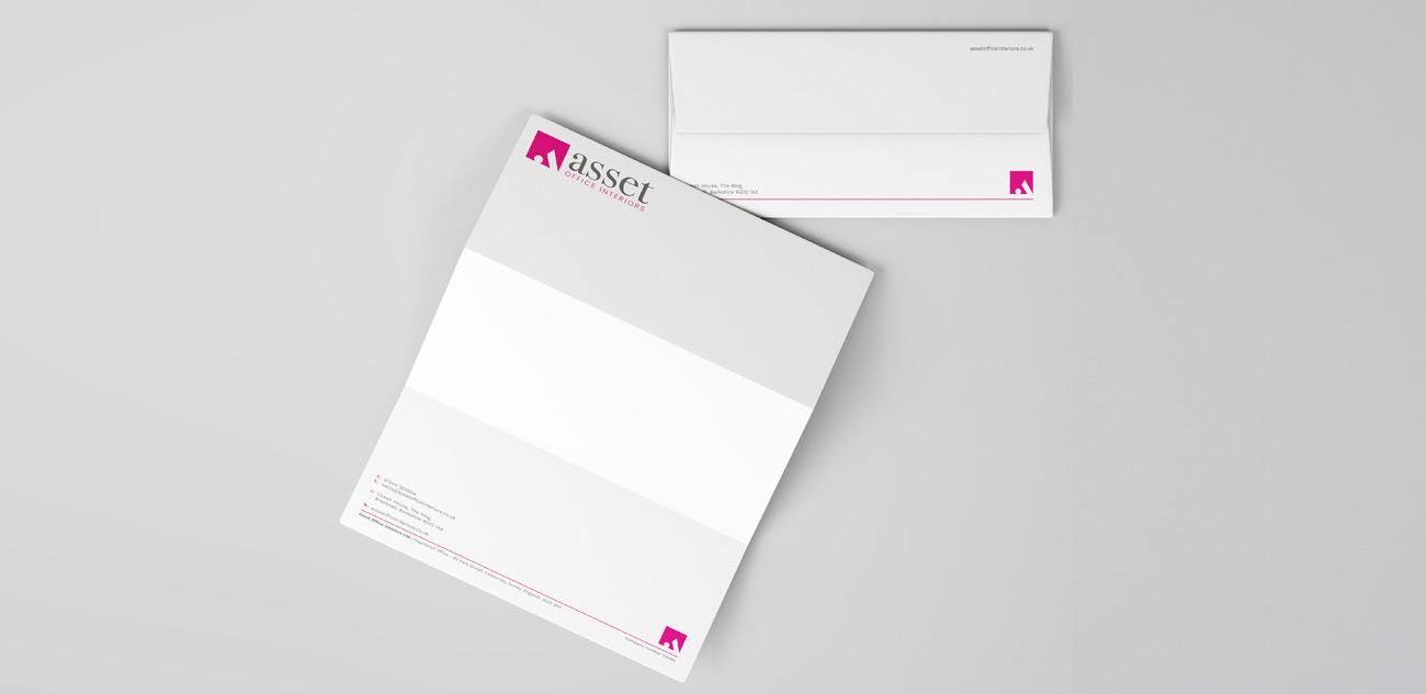 Asset Office Interiors Stationery Design