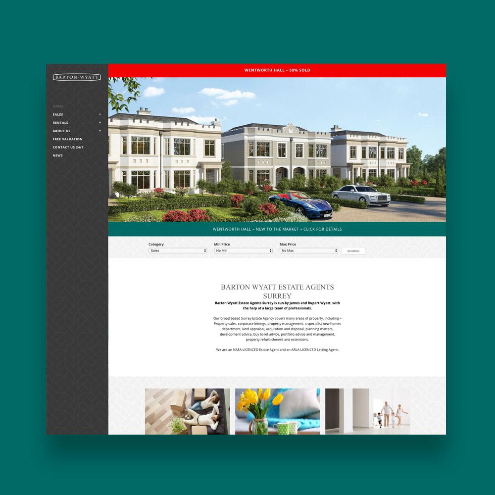 Barton Wyatt Estate Agent Web Design