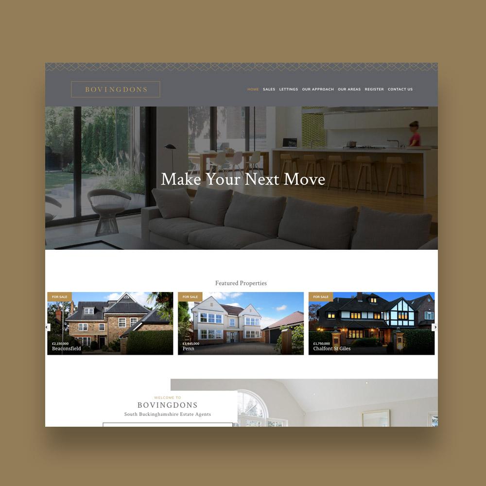 Bovingdons Estate Agent Web Design