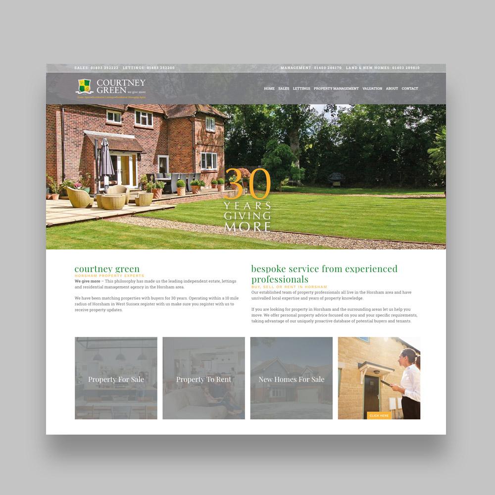 Courtney Green Estate Agent Web Design