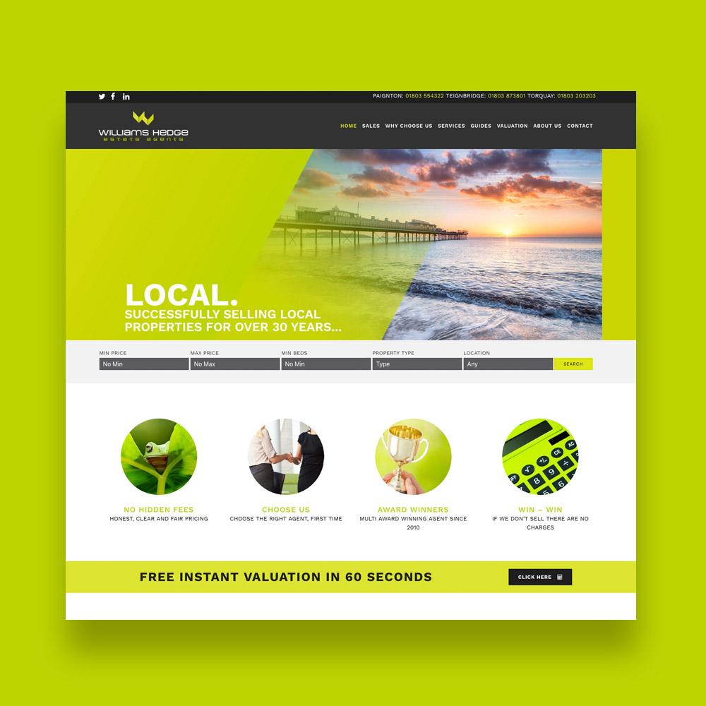 Williams Hedge Estate Agent Web Design
