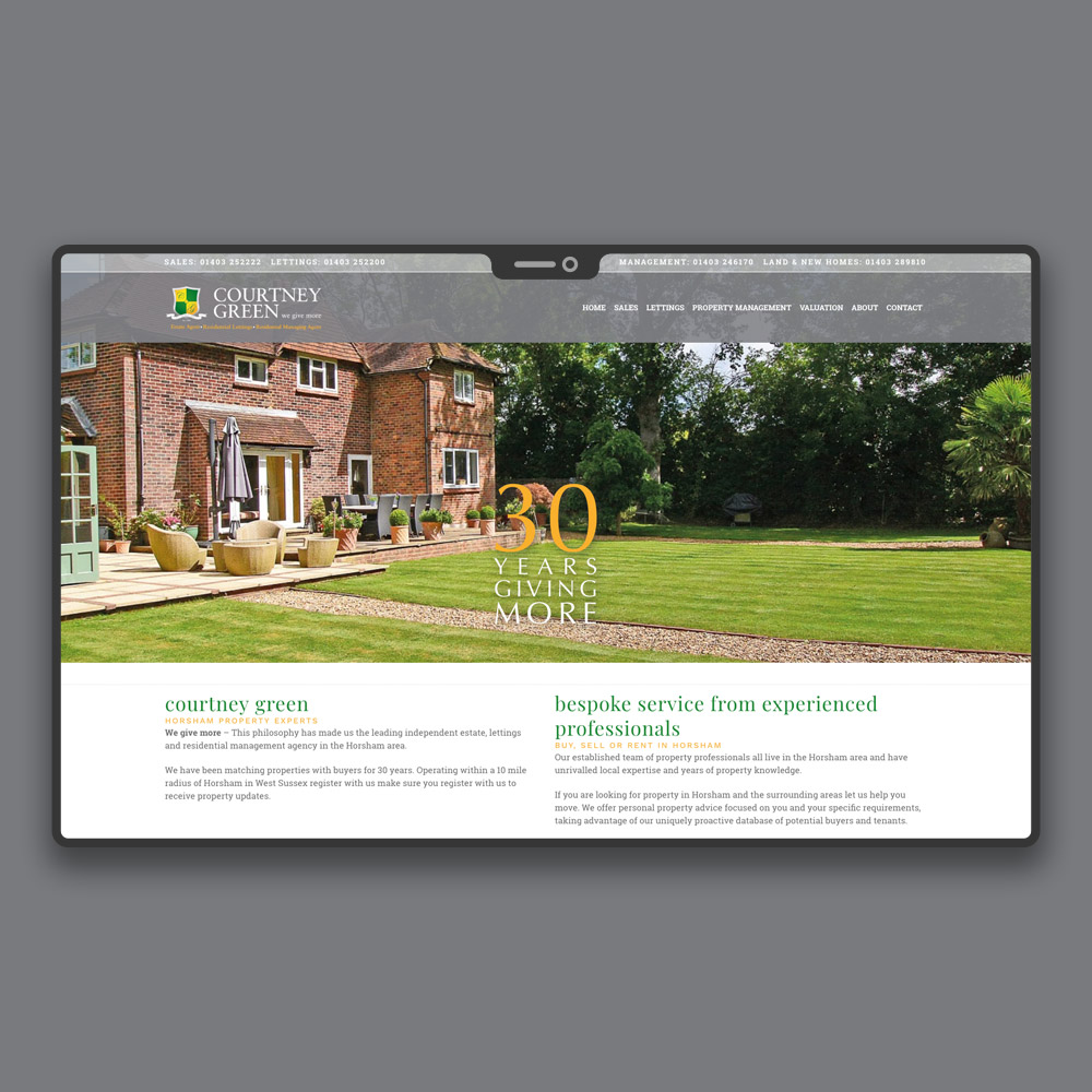 Horsham Estate Agent Web Design