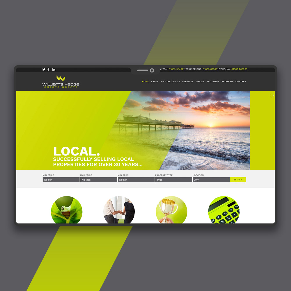 Paignton Estate Agent Web Design