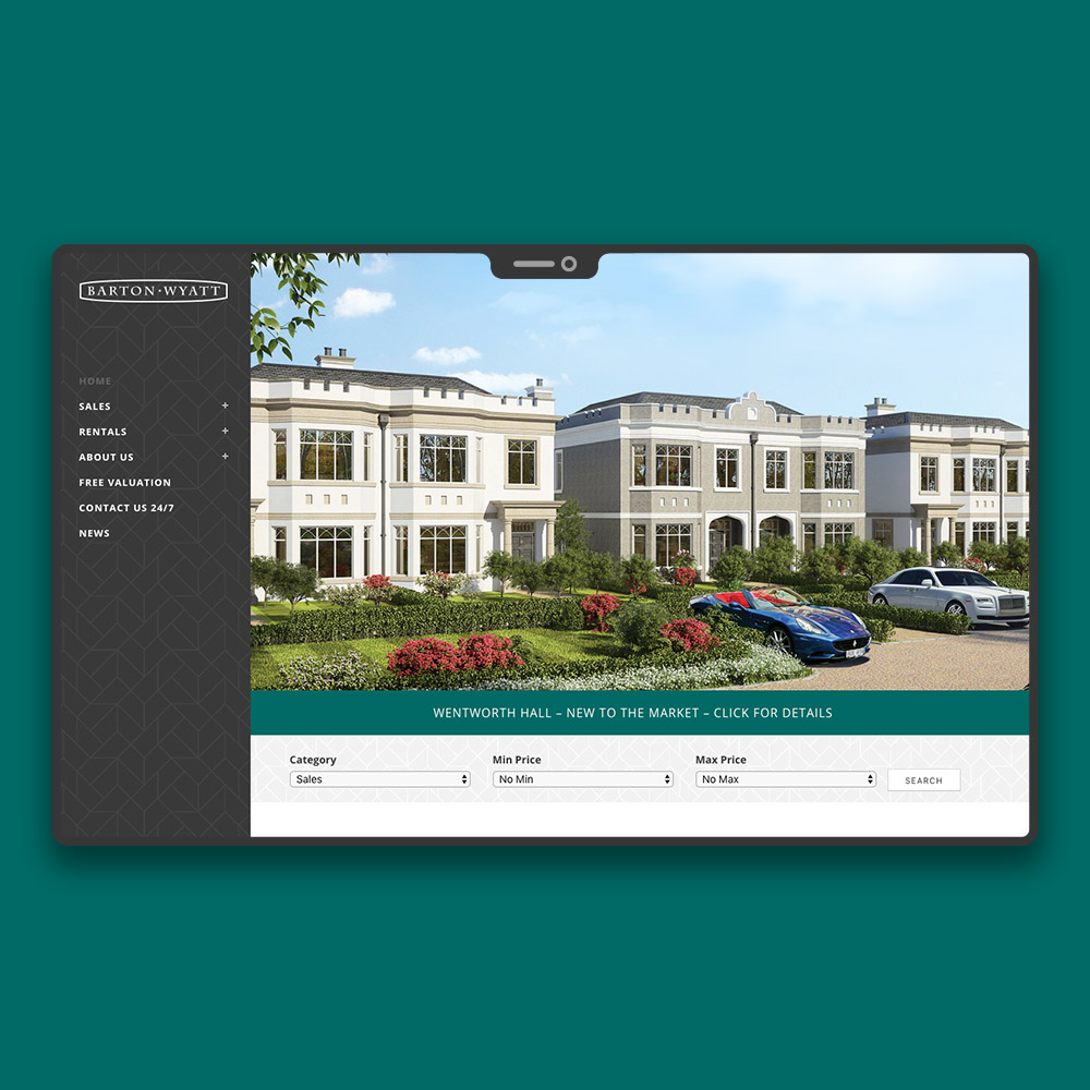 Virginia Water Estate Agent Web Design