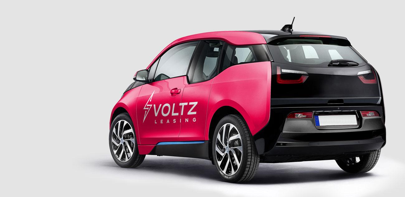 Voltz Leasing Car Decal Design