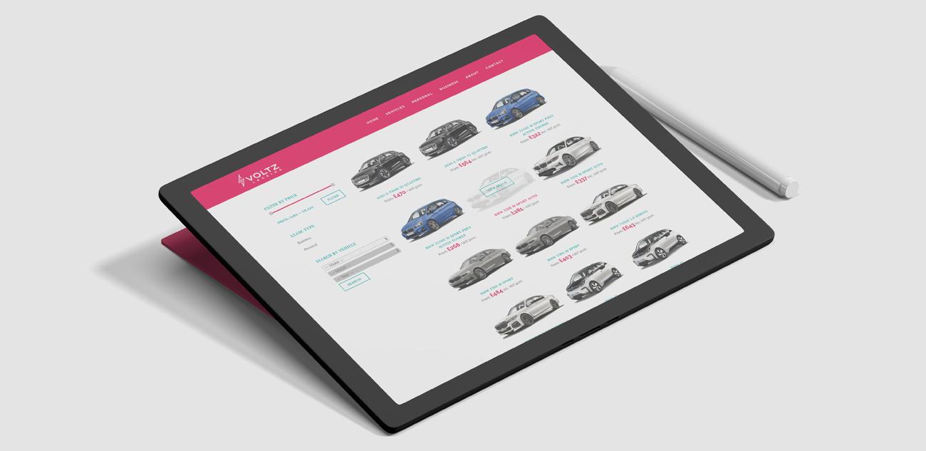 Voltz Leasing Car Website Design