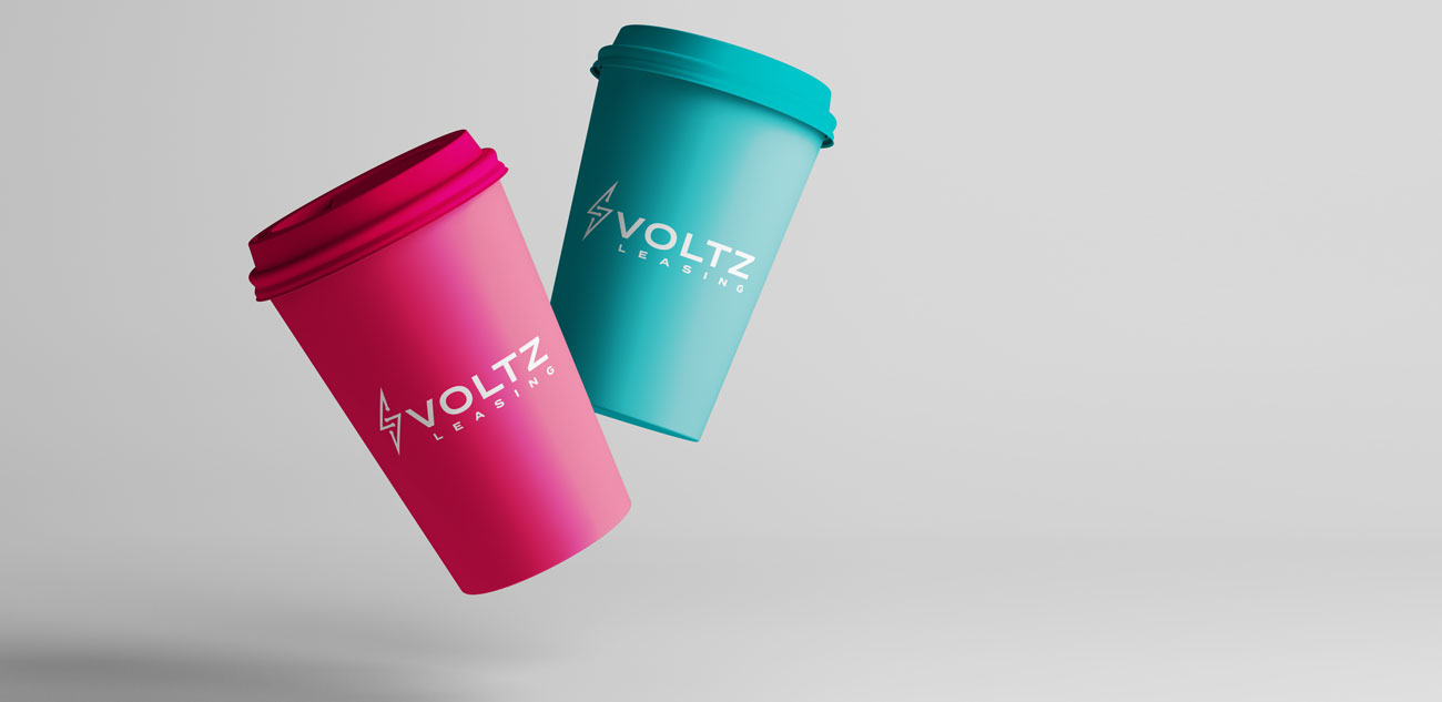 Voltz Leasing Coffee Cup Design
