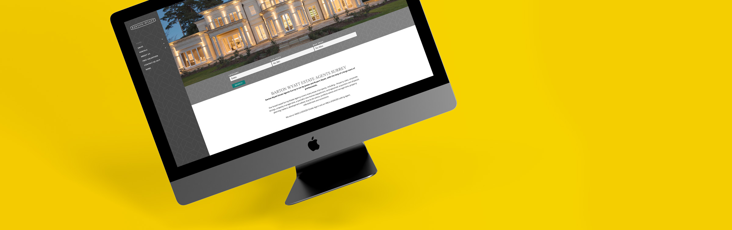 Estate Agent Web Designer Ascot